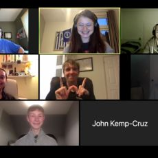 Screenshot of the participants in the zoom call.