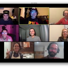 Homebrew Website Club — The Americas participants on a Zoom call, with David Shanske, Tantek, Antonio, Sarah, Angelo, Sue, Carla, and Kartik.