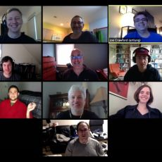 10 participants in an online video conference